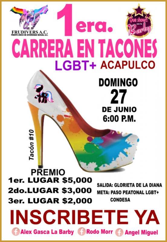 1era. Carrera de Tacones LGTB+ Acapulco